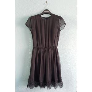 Zara Trafaluc | Lace Hem Sheer Top Shirt Dress